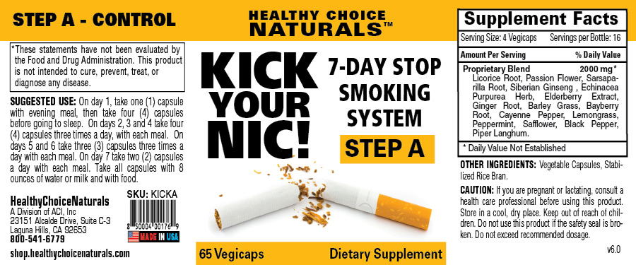 Kick Your Nic Quit Smoking Kit-Step A