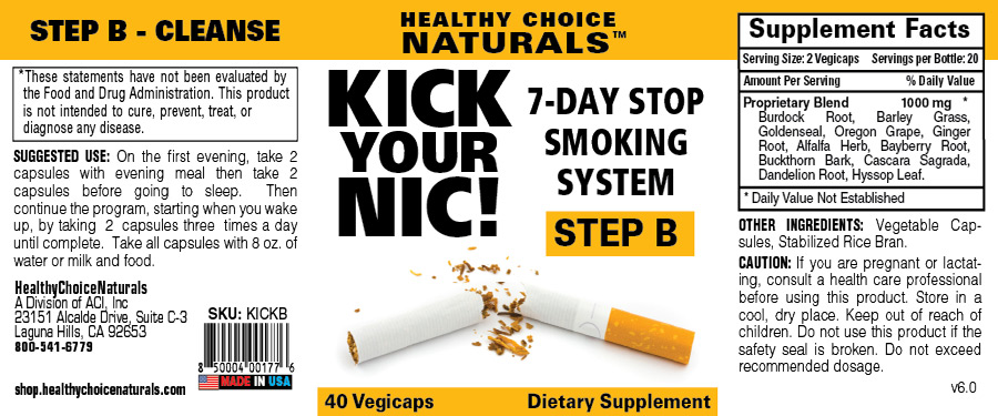 Kick Your Nic Quit Smoking Kit-Step B