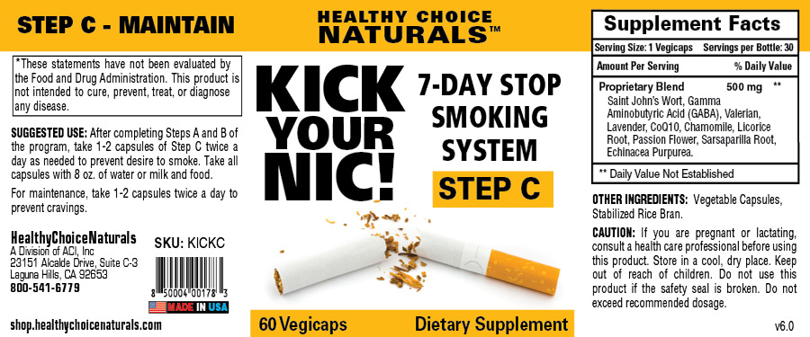 Kick Your Nic Quit Smoking Kit-Step C