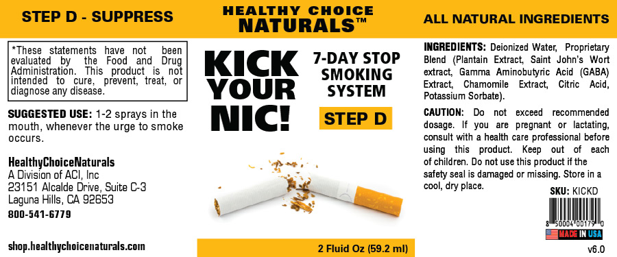 Kick Your Nic Quit Smoking Kit-Step D