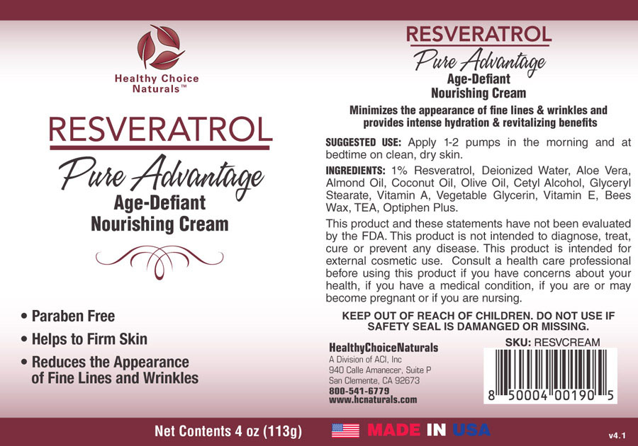 Resveratrol Pure Advantage Cream