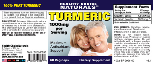 Turmeric with Curcumin Supplement