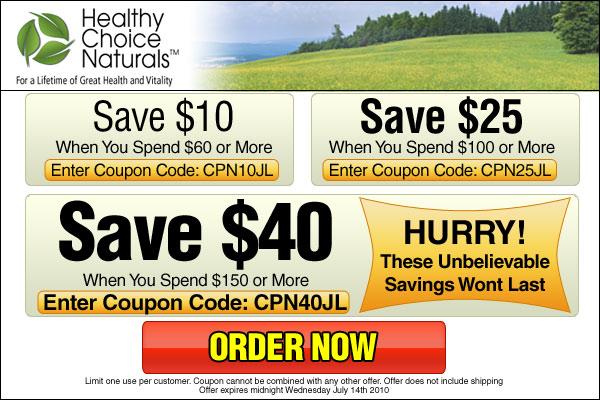 Great Savings at Healthy Choice Naturals