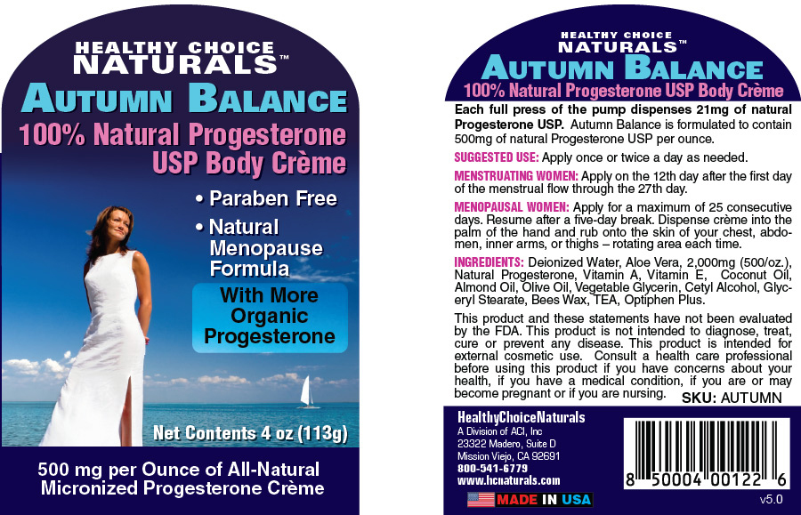 Autumn Balance Natural Progesterone