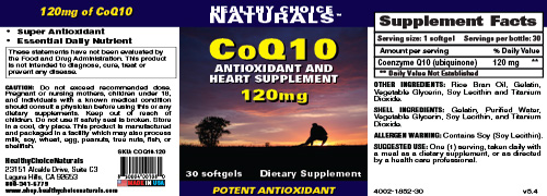 CoQ10 120 Supplements