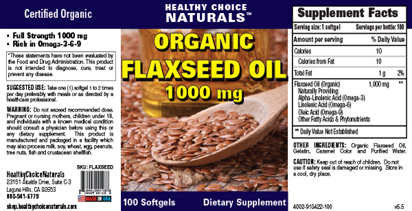 Flaxseed Oil Supplement