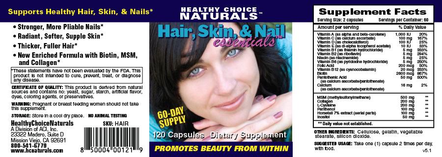 hair and nail supplements
