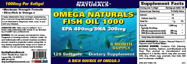 Omega Natural Fish Oil Supplement