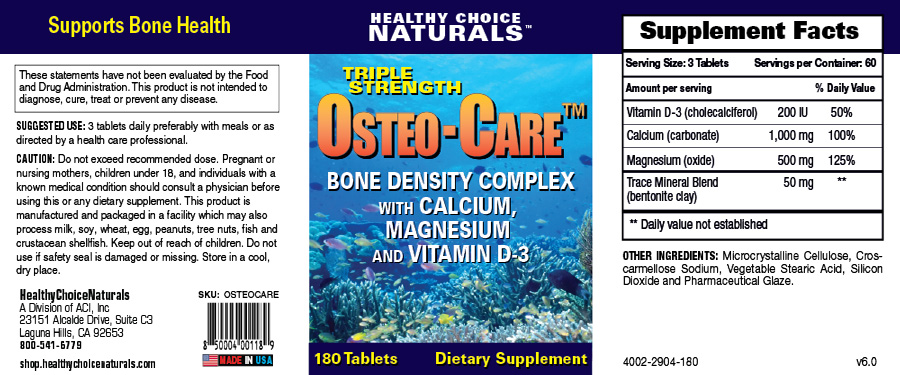 OsteoCare Natural Supplements