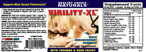Virility XL Supplements