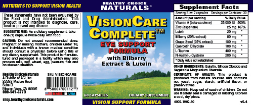 Vision Care Complete Supplements