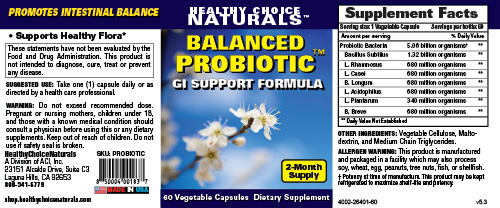 Balanced Probiotic Supplement