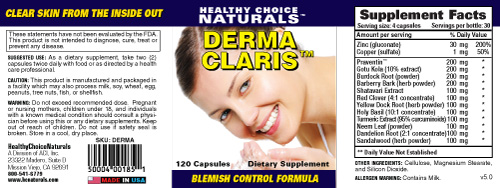 Derma Claris Acne Control Supplements