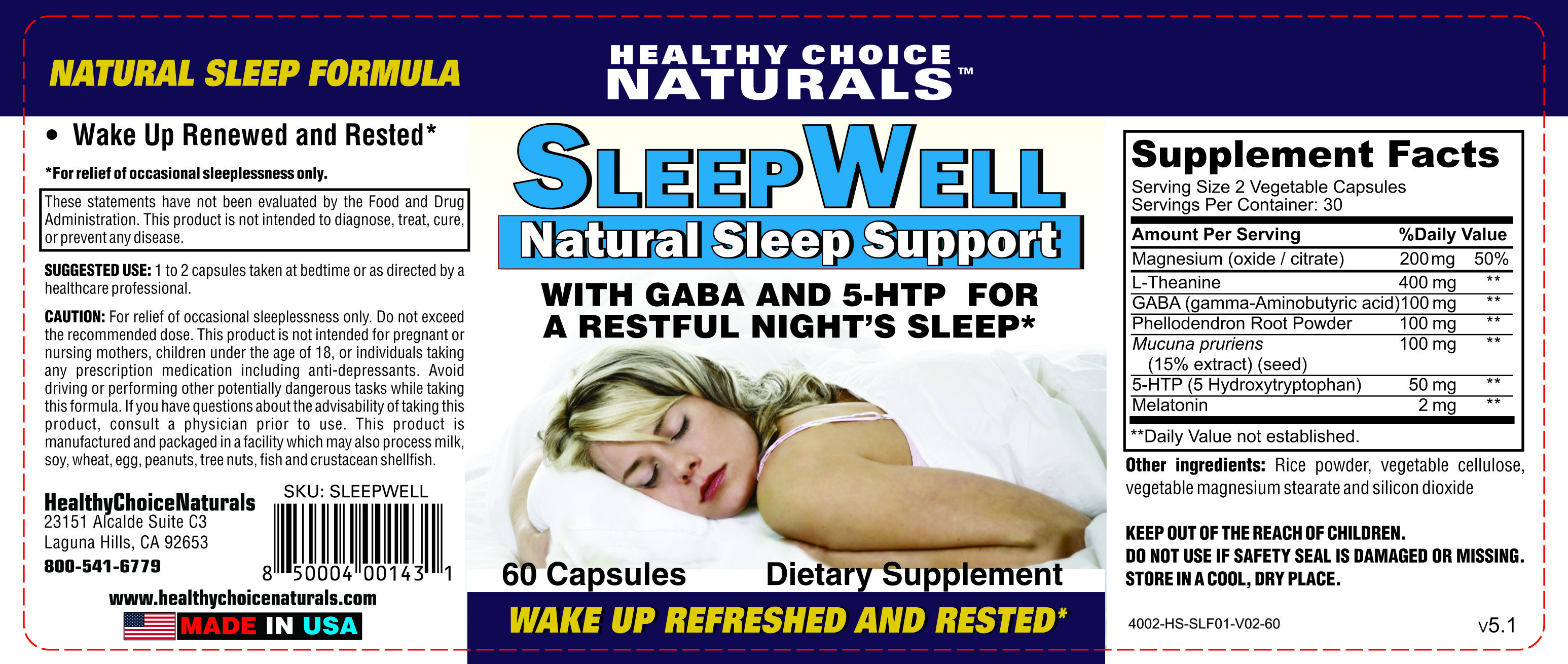 Sleepwell Natural Supplements