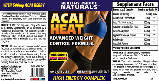 Acai Heat Supplement
