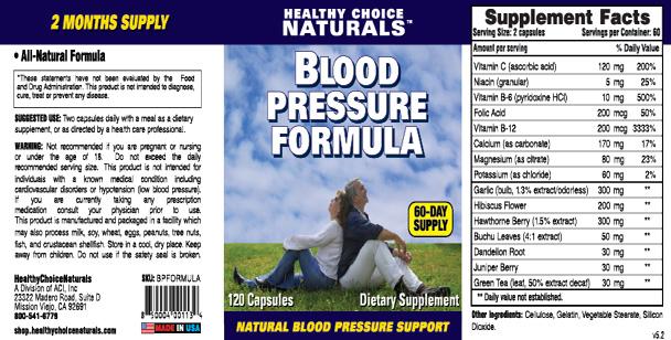 what is blood pressure vitamins