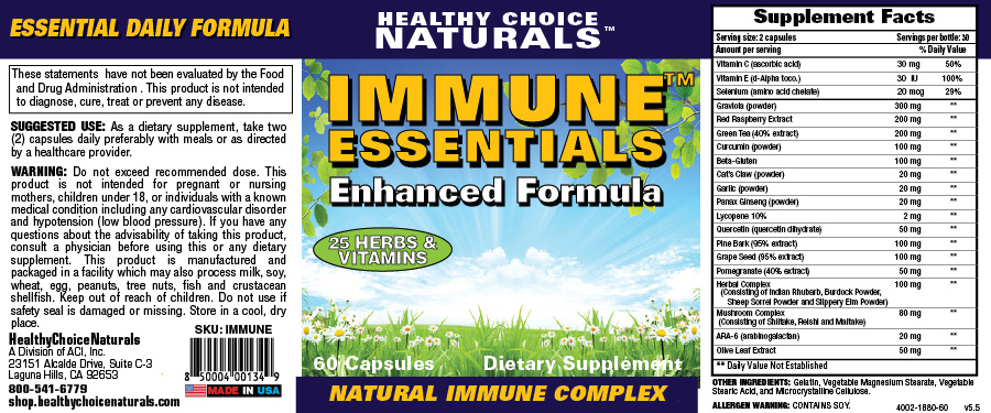 Immune Essentials Supplements