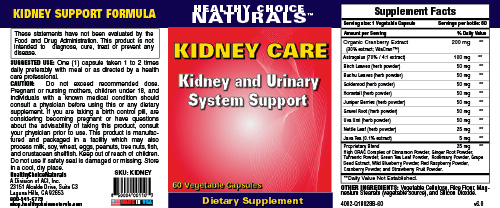 Kidney Care Supplement