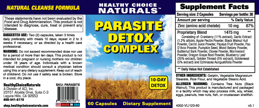 Parasite Detox Supplements