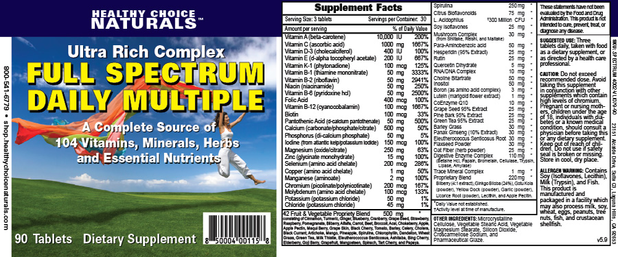 Spectrum Daily Multi-Vitamin